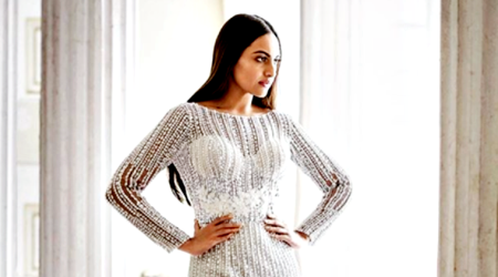 Sonakshi Sinha's love for sequins and sheers grows; she stuns in a Zara Umrigar gown