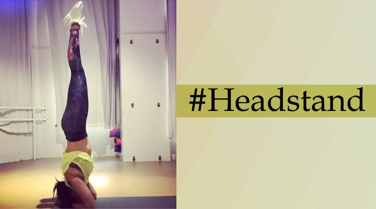 Sonakshi Sinha, Sonakshi Sinha fitness, Sonakshi Sinha head stand, Sonakshi Sinha fitness vidoes, Sonakshi Sinha exercise regime, Sonakshi Sinha weight loss, indian express, indian express news