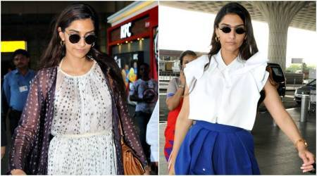 Sonam Kapoor rocks airport fashion in flowy dresses and structured tops; see pics
