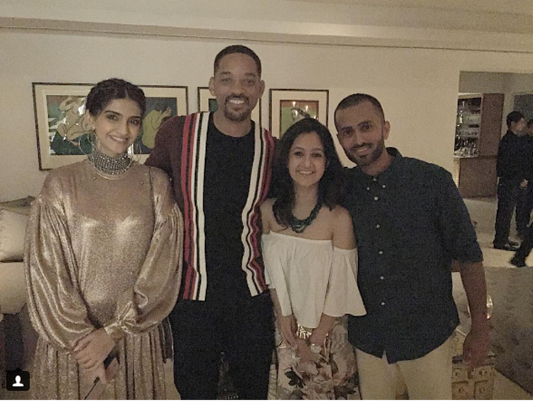 sonam kapoor first photo with anand ahuja