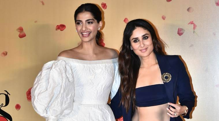 sonam and kareena at veere di wedding trailer launch