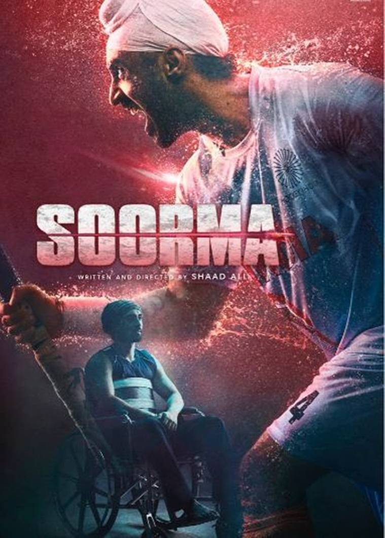the poster of diljit dosanjh's soorma