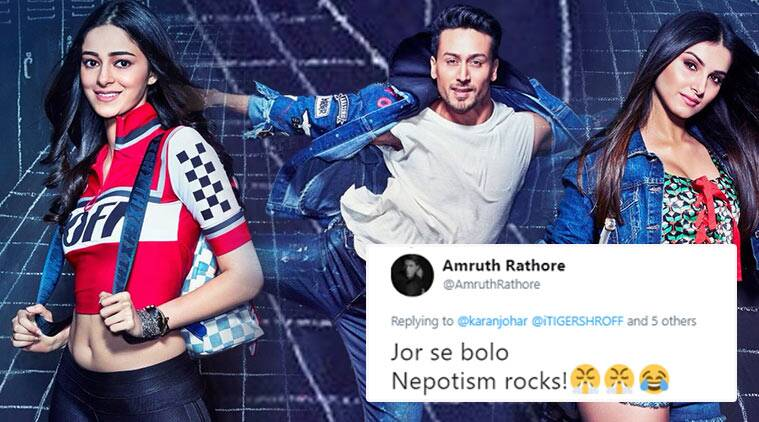 Student of the year 2, soty 2, karan johar, tiger shroff, ananya pandey, ananya pande, Tara Sutaria, soty poster, soty first look, cast of soty, twitter reactions, indian express, indian express news