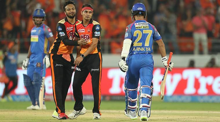 IPL 2018, Indian premier League, SRH vs RR, Shikhar Dhawan, Kane Williamson, sports news, cricket, Indian Express
