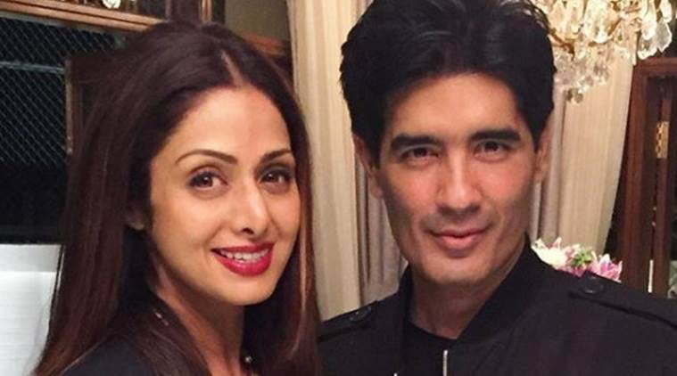 manish malhotra with sridevi