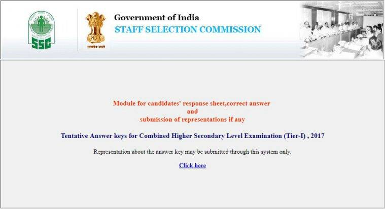 SSC CHSL answer keys, ssc.nic.in, SSC CHSL answer key objection, SSC CHSL answer key representation