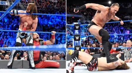 WWE SmackDown LIVE: AJ Styles-Daniel Bryan fight against Rusev Dey-Adien English with no result