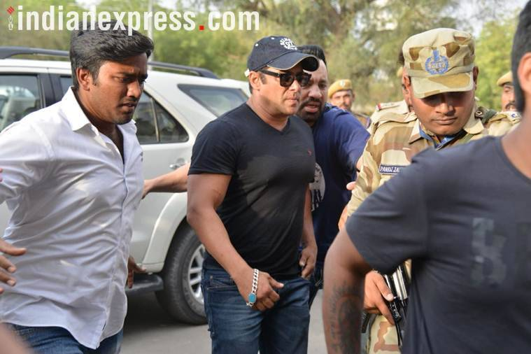 Salman Khan in Jodhpur airport