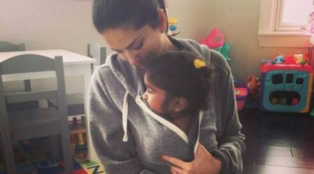 Sunny Leone promises to protect daughter Nisha from everything that's evil. See photo