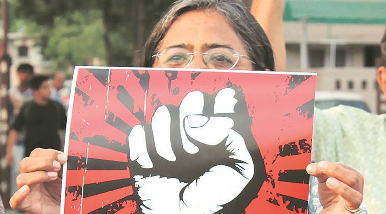 At a march to protest against incident, in Ahmedabad. (Javed Raja)