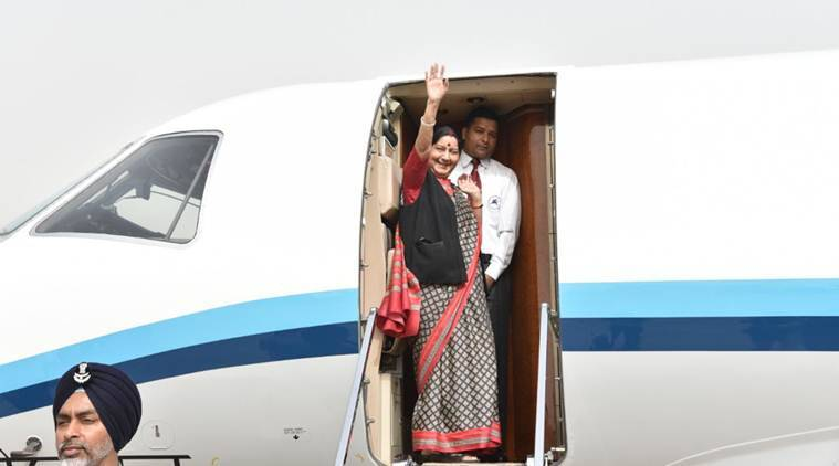 SCO meeting: Sushma Swaraj departs for six-day visit to China, Mongolia, Sitharaman to join her on April 24