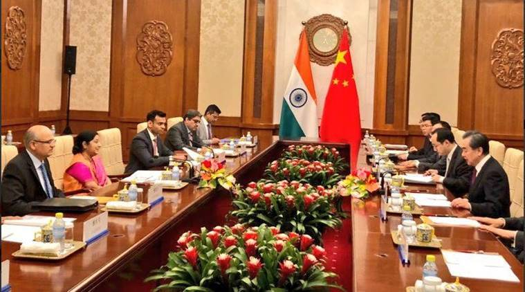 Swaraj meets Chinese counterpart, discusses ways to improve India-China relationship