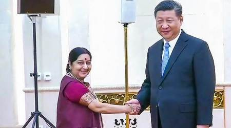 Sushma Swaraj meets Xi Jinping, stresses need to learn each other's language