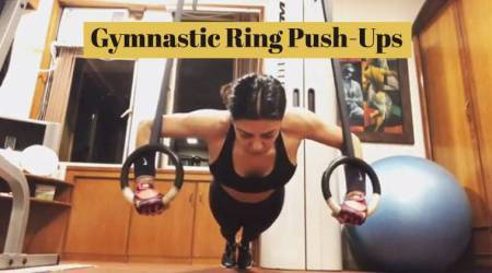VIDEO: Sushmita Sen adds to the Push-Up challenge with gymnastic rings