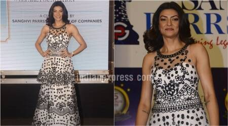 Sushmita Sen fails to impress in a Notte Marchesa monochrome number