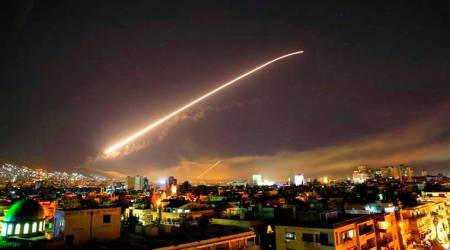 Syria airstrikes: Damascus sky lights up as missiles streak across airspace in wee hours