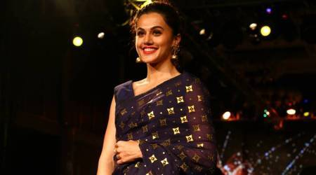 You can easily recreate Taapsee Pannu's look for an evening soiree on a hot summer's day
