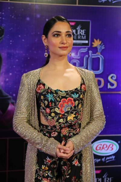 Tamannaah Bhatia at the Zee Telugu Apsara Awards 2018