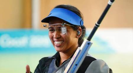 Tejaswini Sawant at the Commonwealth Games in Gold Coast
