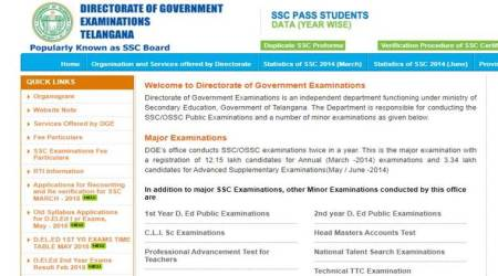 Telangana SSC 10th results 2018: When and where to check