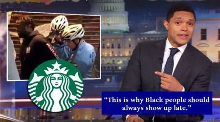 VIDEO: Trevor Noah mocks Starbucks for arresting two Black men doing 'nothing'