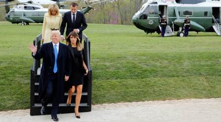 No typical double date: Trumps, Macrons dine at Mount Vernon