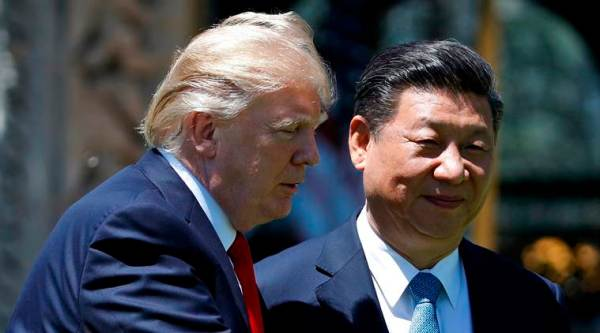 US President Donald Trump with his Chinese counterpart Xi Jinping.