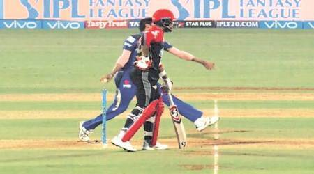 IPL 2018: Umpire checks for no-ball after Umesh Yadav is caught; TV umpire gets the replay with Umesh at non-striker'send