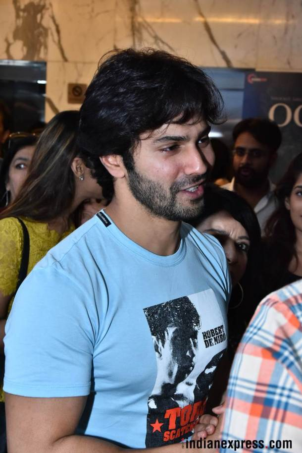 varun dhawan at october screening