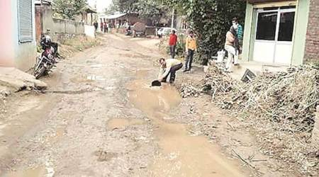 Punjab: Villagers protest poor road condition, Nurpur MLA says probe report in onemonth