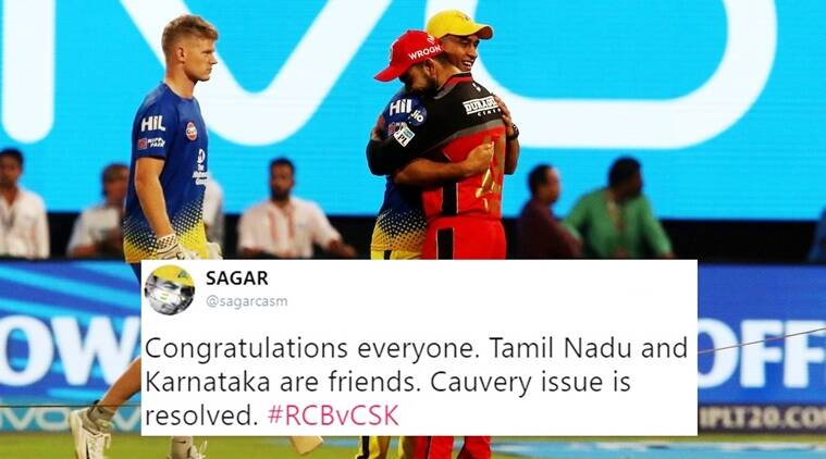 virat Kohli dhoni hug, RCB vs CSK, RCB vs CSK match higlights, IPL Virat Kohli MS Dhoni matches, Virat Kohli MS Dhoni hugs each other photo viral, IPL best photos, Indian express, Indian express news