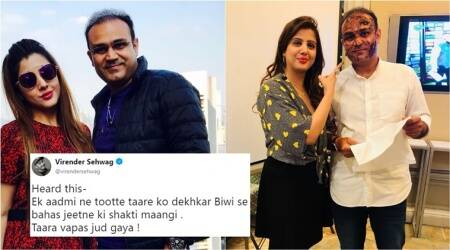 Sehwag's funny tweet right before his wedding anniversary got Twitterati LOL-ing