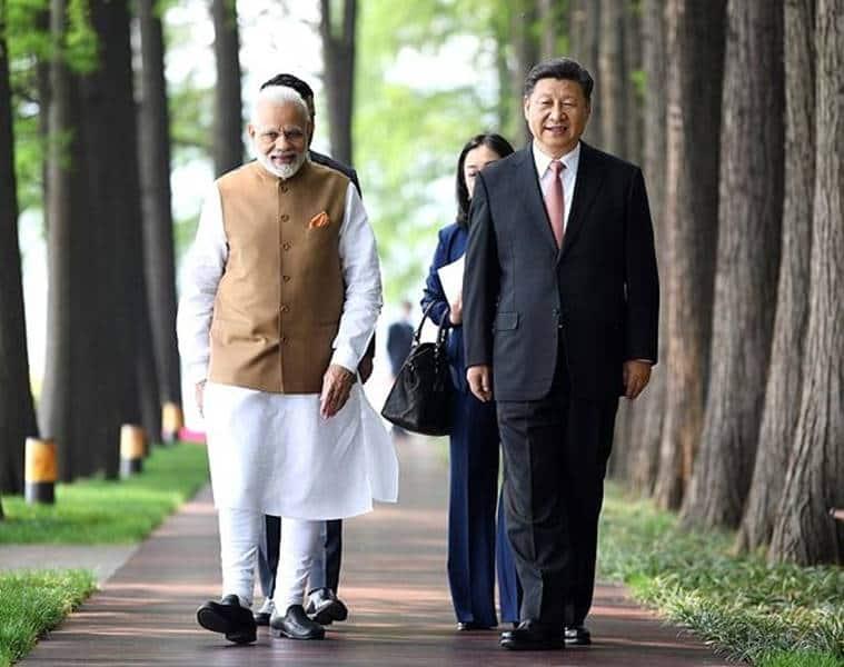 pm modi in china, modi boat ride, modi xi jinping meeting, modi east lake ride, east lake china, modi wuhan visit, india-china relations, indian express