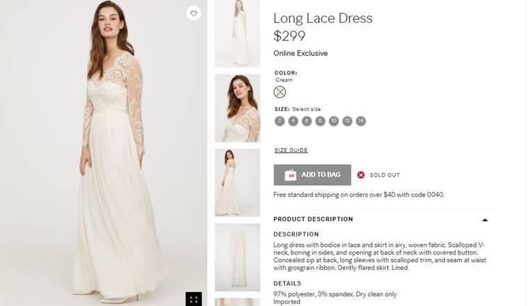 H&M recreated Kate Middleton\'s dreamy wedding dress for Rs 20,000 ...