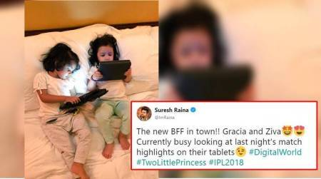 BFF Goals! Suresh Raina and MS Dhoni's daughters chilling together is super aww-dorable