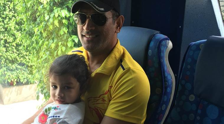 MS Dhoni daughter Ziva urged to hug 'Papa' during his pain-ridden 79-run knock