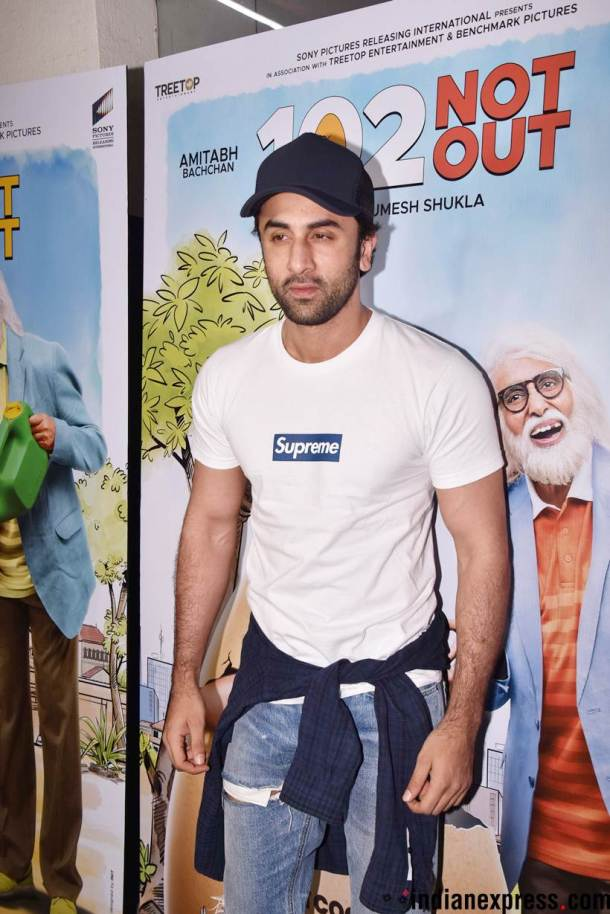 ranbir kapoor at 102 not out screening