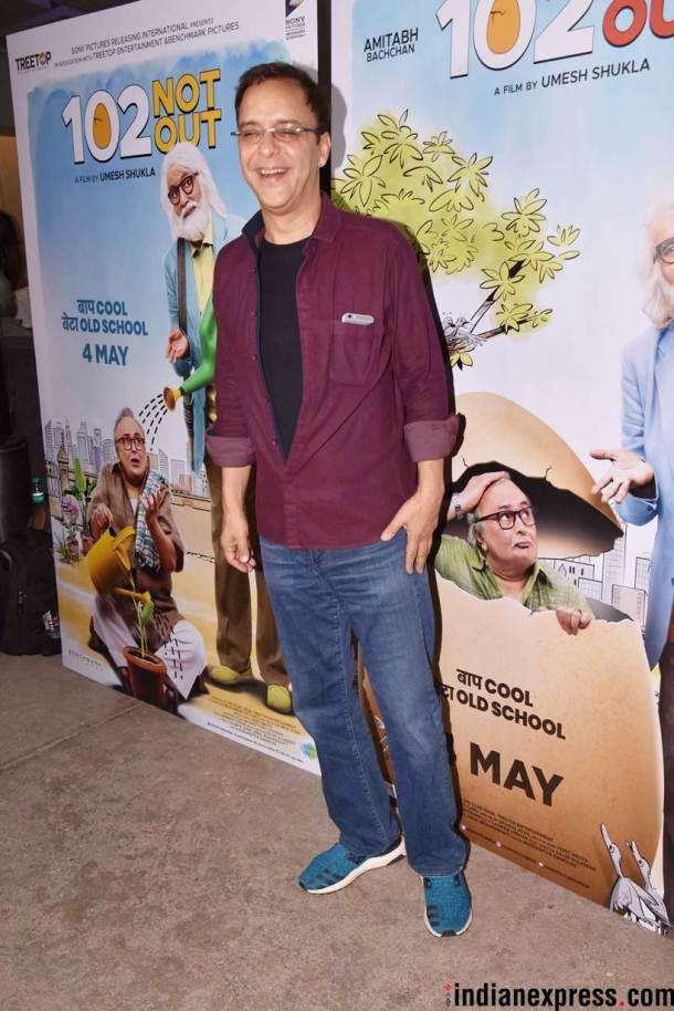 vidhu vinod chopra at 102 not out screening