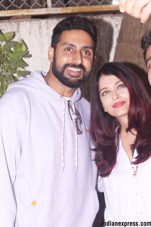 aishwarya and abhishek at 102 not out screening