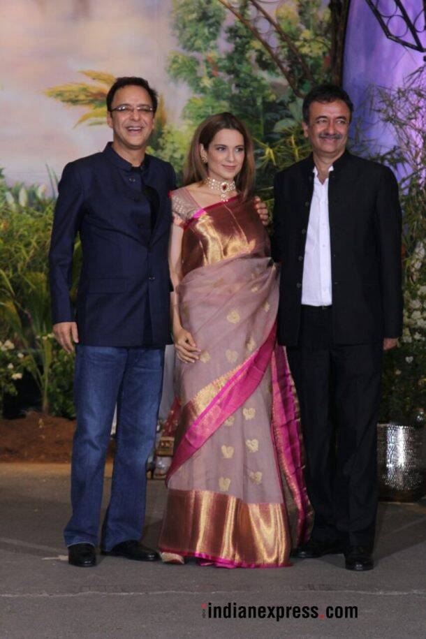 kangana ranaut with vidhu vinod chopra and rajkumar hirani
