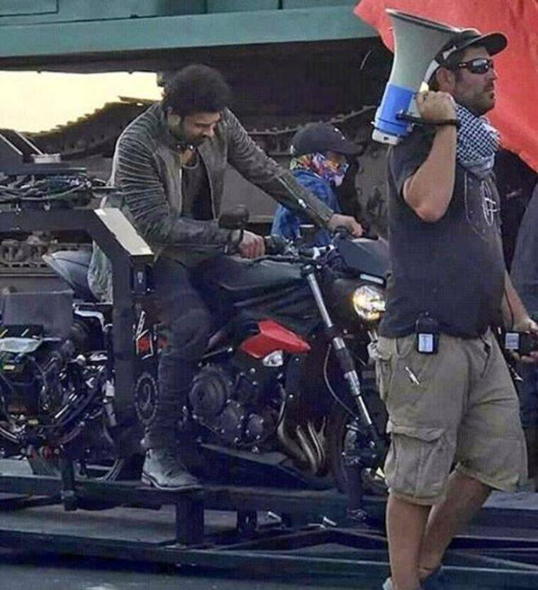 Prabhas shooting an action scene on the sets of Saaho in Abu Dhabi
