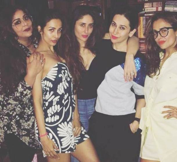 kareena kapoor khan with malaika arora and amrita arora