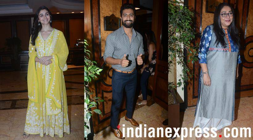 Alia Bhatt, Meghna Gulzar and Others at the 'Raazi' Success Party!