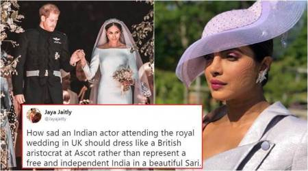 Netizens stand up for Priyanka Chopra who was criticised for not wearing a sari at the Royal Wedding