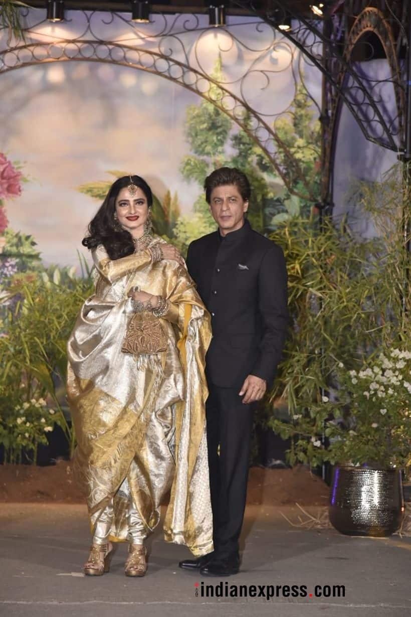shah rukh khan and rekha