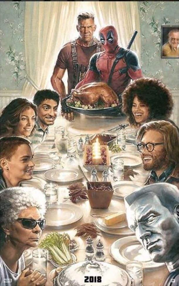 deadpool 2 image family dinner