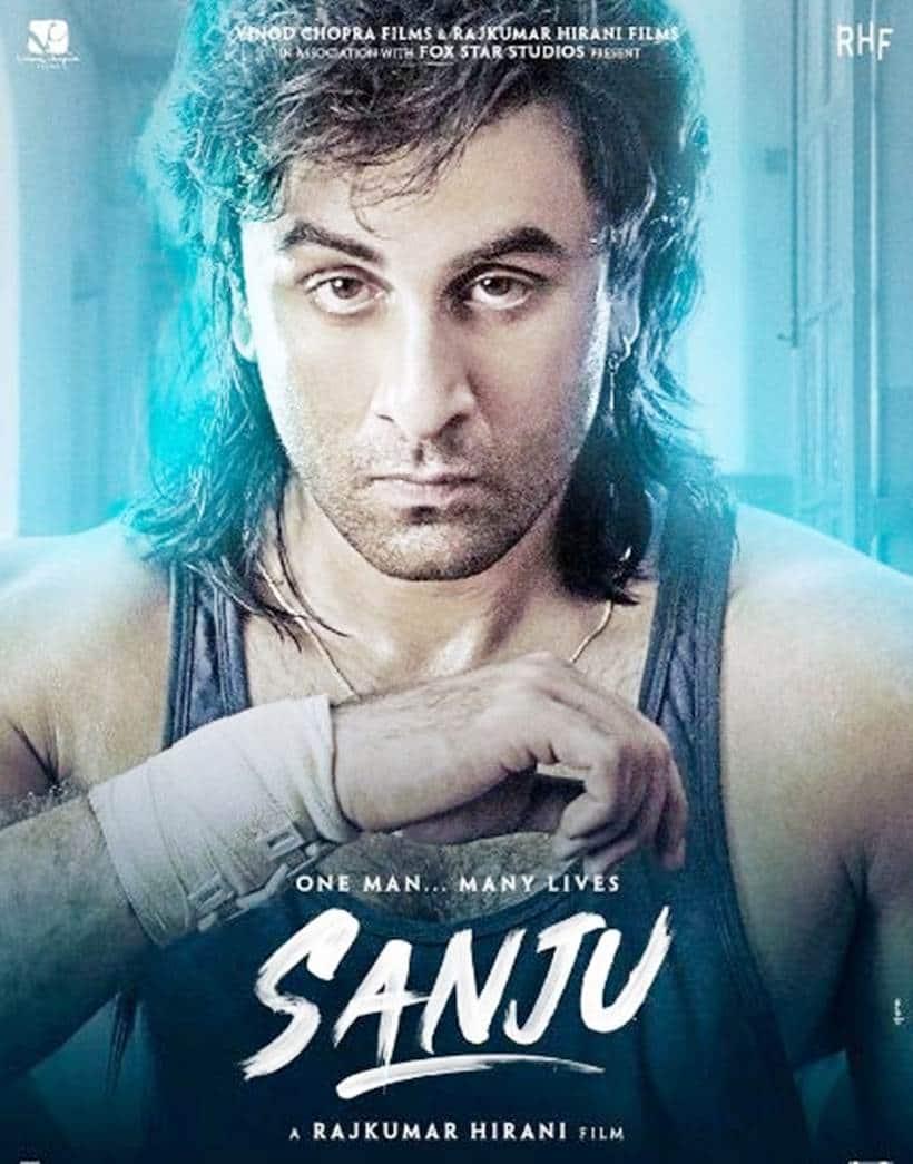ranbir kapoor as sanjay dutt 90s look