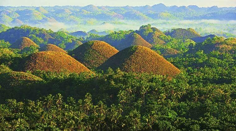 Bohol Island, Philippines, Chocolate Hills, Visayas region, Ice Age, Philippine Tarsier Sanctuary, indian express, indian express news