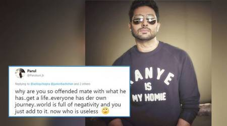 Abhishek Bachchan says 'get well soon' to a troll calling him 'useless'; Twitterati cheer for him