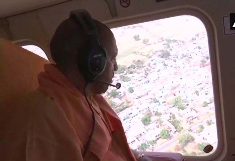 Dust storm kills 73 in UP: CM Yogi visits victims, takes aerial survey of areas affected
